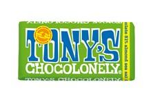 Tony´s Choklad Dark Chocolate Almond & Seasalt 180 g