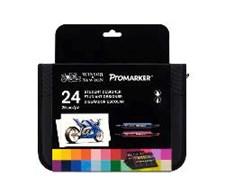 Promarker -sarja  24 kpl merkkauskynää kätevässä laukussa.