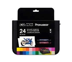 Promarker -sarja  24 kpl merkkauskynää käytännöllisessä laukussa