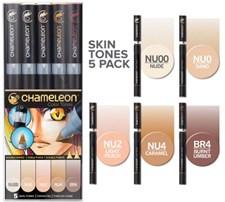 Chameleon 5-pack Pen Marker Skin Tones