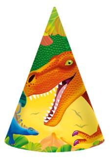 Dinosaurer, Partyhatter, 8 stk.