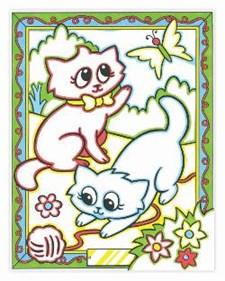 Fargelegg etter nummer – katt