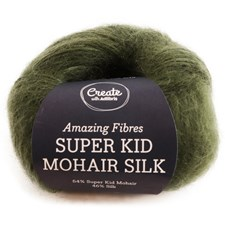 Adlibris, Super Kid Mohair Silk, 25 g, Dark Green A556