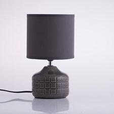 Lamppu keraamisella jalalla tummanharmaa 15x27 cm