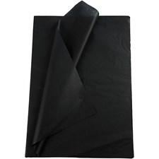 Silkespapper,  50x70 cm,  14 g, svart, 10ark