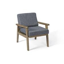 Kids Concpet Lounge Fåtölj Brun/Blå