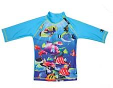 UV-trøye Fisk Turkis, str 86-92 cl, Swimpy