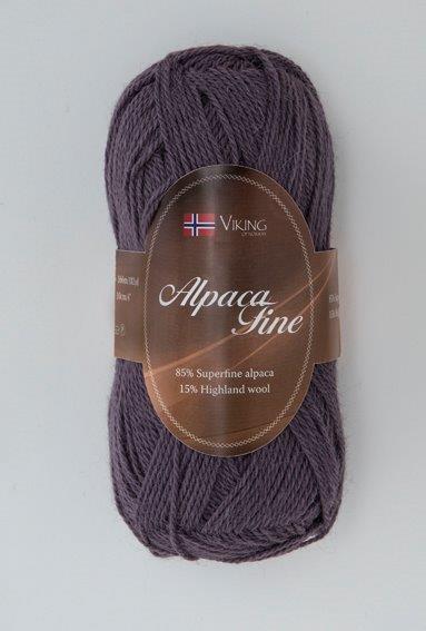 Viking of Norway Alpaca Fine 50 gr liila