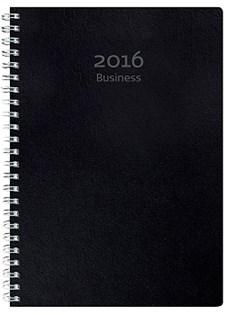 Kalender Business 2016 Miljökartong Spiralbunden A5 Svart