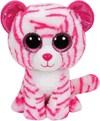 TY Asia, Vit/röd tiger, 23 cm