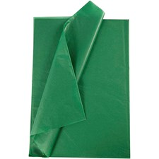 Silkepapir, ark 50x70 cm, 19 g, 25 ark, grønn