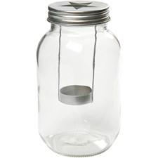 Lanternor i glas diameter 10 cm höjd 18 cm, 1 st.