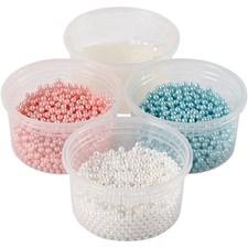 Pearl Clay®,  3x25 g,  38 g, lys blå, råhvit, lys rød, 1sett