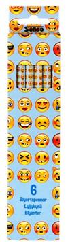 Emoji Blyanter Sense 6 stk.