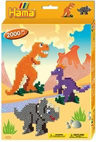 Hama Midi Gaveeske, Dinosaurer, 2000 perler