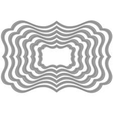 Kuvioterä, koko 4x2,5 - 12x8 cm, tagit, 1kpl