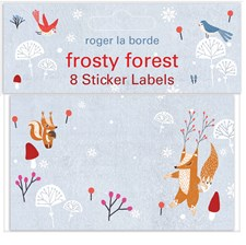 Gavelapper Frosty Forest Roger la Borde 10 x 6cm 8-pack