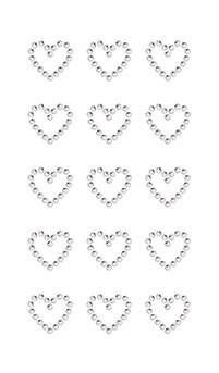 Klistermärken Strass Hjärta Kristall 1 Ark