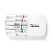 Markør penn Winsor & Newton Pigment Marker Sett 6 Rich Tones