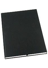 Notatbok Grieg Design innbundet A4 100 gram linjert Svart