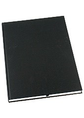Muistikirja Grieg Design A4 100 g sidottu viivat musta