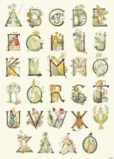 Blomsteralfabet affisch