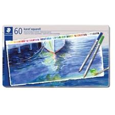 Karat® akvarell 60-pack, av högsta kvalitet, i metallask.