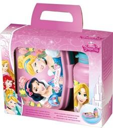 Matboks og sportflaske i gavepakke, Disney Princess