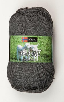 Viking of Norway Baby Ull Garn Merinoull 50g Mörkgrå 315