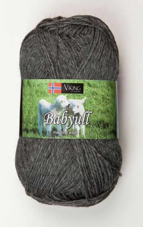 Viking of Norway Baby Ull 50 gr Mørk Grå 315