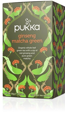 Pukka Te Ginseng Matcha Green Tepåsar 20 st Ekologisk