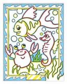 Måla efter nummer - havsdjur