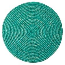 Rice Raffia Bordstablett D:40 cm Turkos