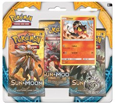 Poke Blister, 3-pack, Sun & Moon 1, Litten, Pokémon