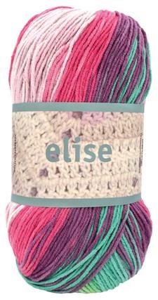 Elise 100g Vaaleanpunainen, vihreä batiikki