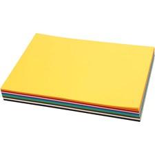 Färgad kartong, A4 210x297 mm,  180 g, 120mix. ark