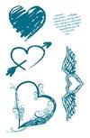 Silikonileimasin Sydän 10 x 18,5 cm