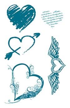 Silikonstämpel Hjärta 10x18,5 cm
