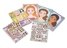 Make-a-Face Sticker Pad, Sparkling Princess, Melissa & Doug