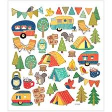 Stickers,  15x16,5 cm, ca. 40 st., campingtur, 1ark