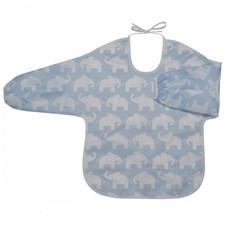 Haklapp med ärm/förkläde Elefant, blå, Rätt Start