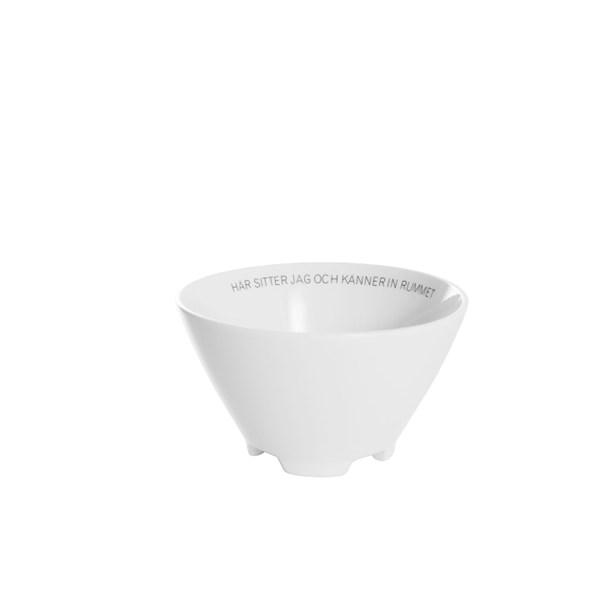ERNST Skål Citat Rummet Dia 14 cm Porslin - tallrikar & skålar