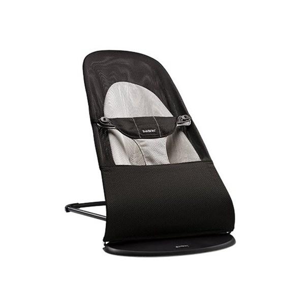 BabyBjörn Vippestol, Balance Soft, Svart/Grå, Mesh