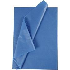 Silkepapir, ark 50x70 cm,  14 g, blå, 10ark