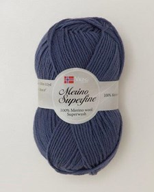 Viking of Norway Merino Superfine Garn Merinoull 50g Jeansblå 627