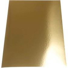 Metallkartong, A4 21x30 cm, 280 g, 10 ark, gull