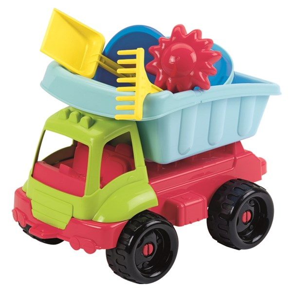 Lastbil med leksaker  34 cm  Ecoiffier - sandlådeleksaker