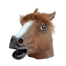 Hästhuvud Gummimask