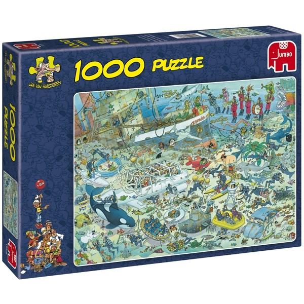 Bare ut Puslespill 1000 brikker «Deep Sea fun», Tildas- puslespill 1000+ DI-46