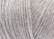 Rico Fashion Métallisé Aran Garn Ullmix 50g Silver 002